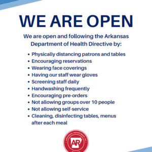 AR COVID We Are Open Restaurant