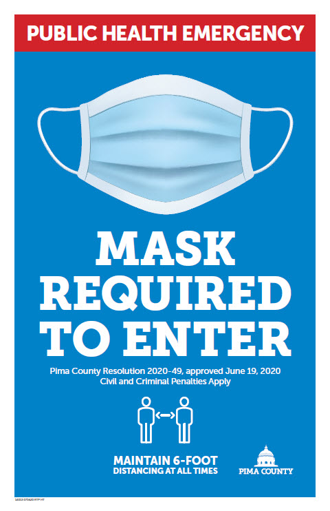 AZ Pima County COVID Public Mask blue